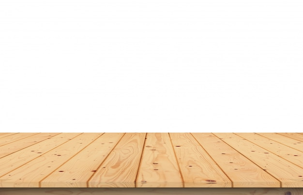 Mesa de madeira branca turva para editar fotos de produtos ou projetos de layout