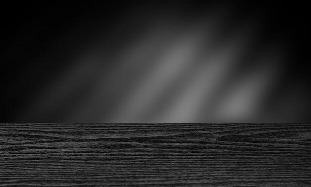 Mesa de madeira escura para o fundo de montagem de exposição de produto