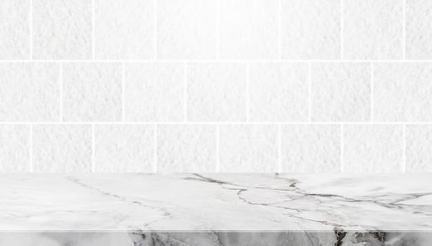 Mesa de pedra e fundo de parede de azulejos de pedra de granito cinza - pode ser usado para exibir ou montar seus produtos.