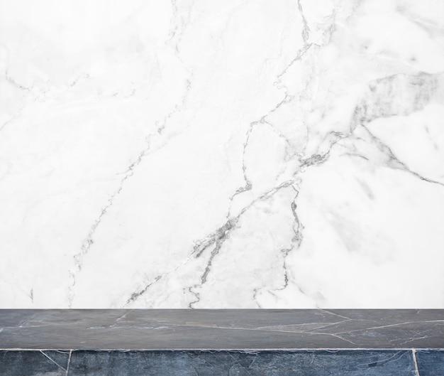 Mesa de pedra preta e fundo de parede de pedra de mármore branco - pode ser usada para exibir ou montar seus produtos.