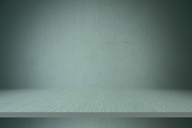 Mesa de prateleira de cimento e fundos de parede, para produtos de exibição