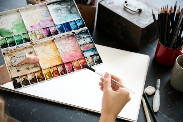 Mesa de um artista