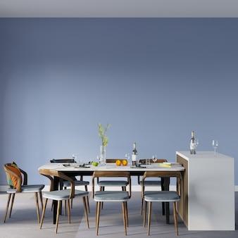 Mesa e cadeiras na sala