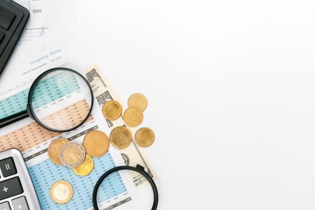 Mesa escritório negócios contabilidade financeira calcular