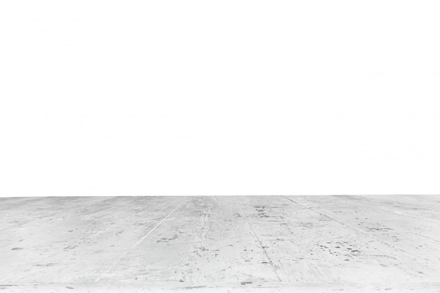 Mesa feita com tábuas brancas sem fundo
