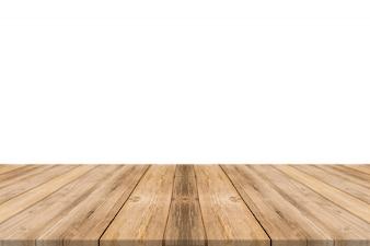 Mesa feita com tábuas