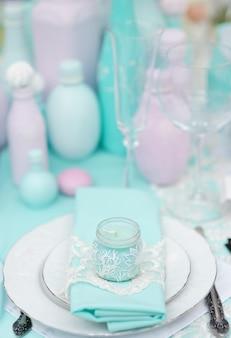 Mesa posta para uma festa de evento ou festa de casamento