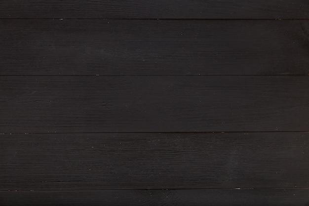 Mesa preta de madeira vazia feita de tábuas de madeira, fundo de textura simples, quadro-negro cinza escuro claro, vista superior de cima