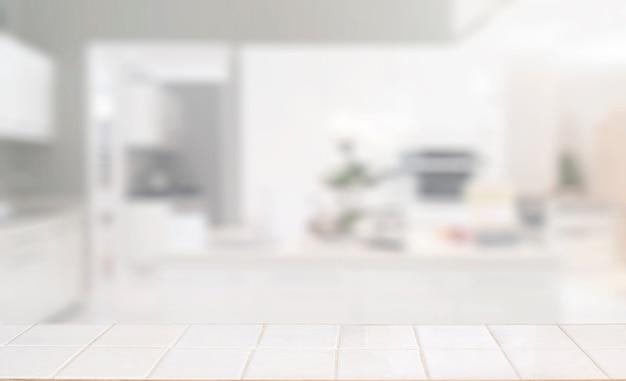 Mesa vazia na sala de cozinha