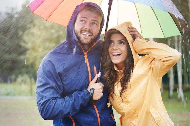 Mesmo em grandes tempestades temos bom humor
