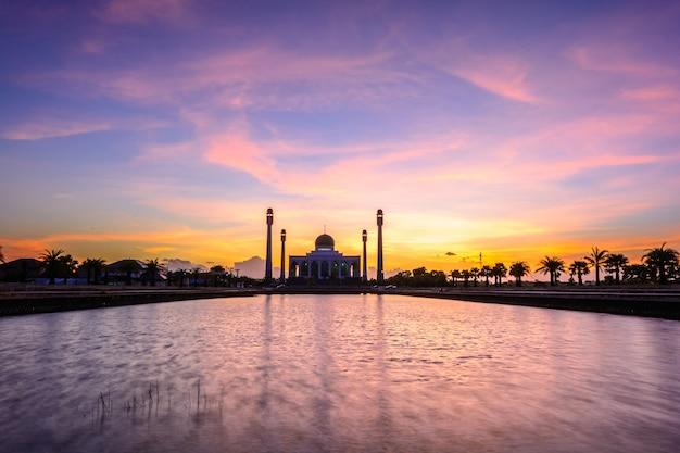 Mesquita da província de songkha, tailândia