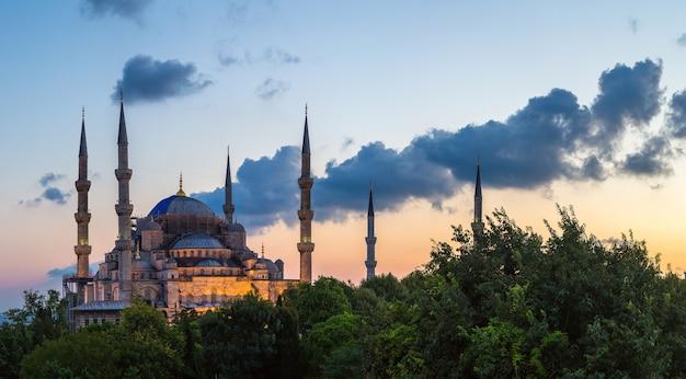Mesquita do sultão ahmet em istambul, turquia
