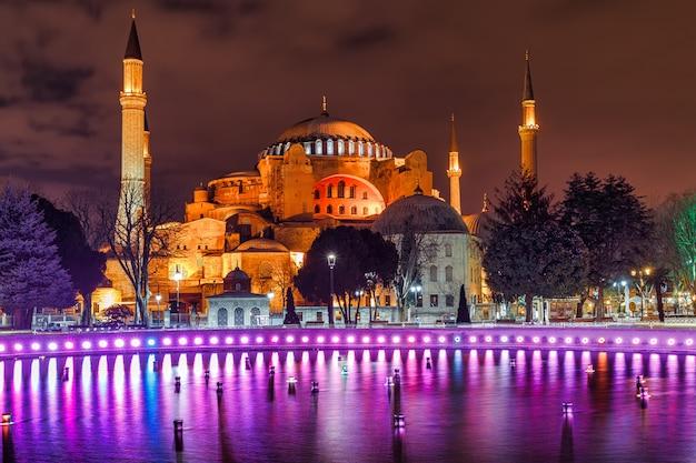 Mesquita hagia sophia em sultanahmet, istambul