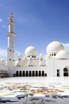 Mesquita sheikh zayed, em abu dhabi,