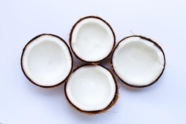 Metade cocos. vista do topo