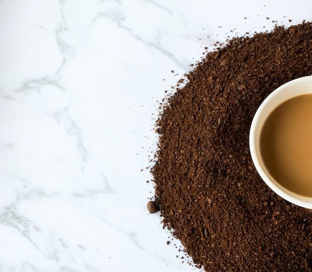 Metade da xícara de café