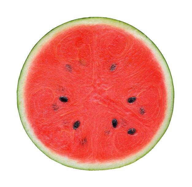 Metade de melancia em fundo branco