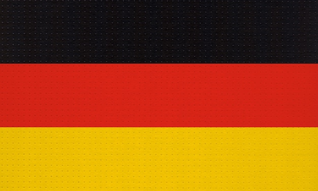 Metal a bandeira nacional alemã da alemanha, europa