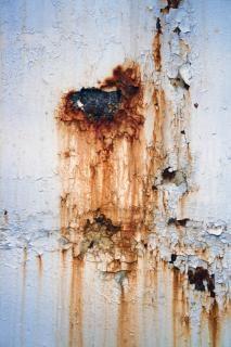 Metal enferrujado, a corrosão