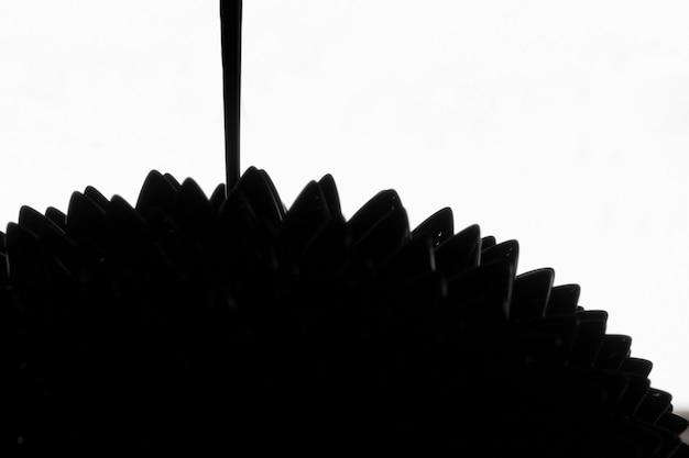 Metal ferromagnético abstrato em preto e branco