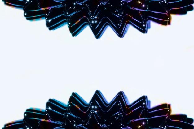 Metal líquido ferromagnético lateral com espaço da cópia