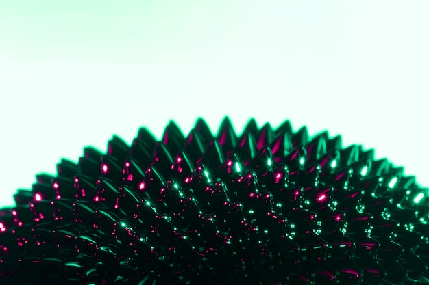 Metal líquido ferromagnético preto e roxo com espaço de cópia