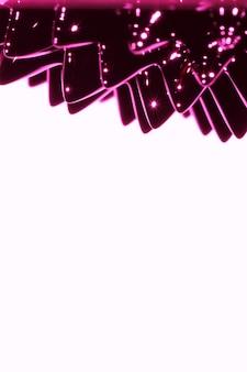 Metal líquido ferromagnético roxo com espaço de cópia