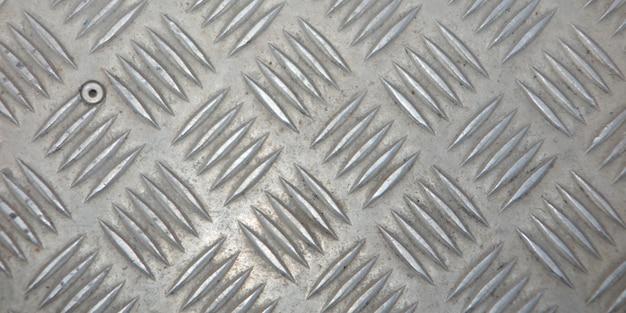 Metal prata industrial parede diamante aço padrão textura de fundo para designer