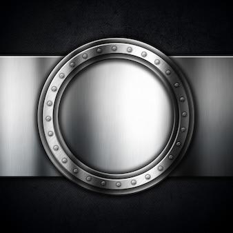 Metálico com moldura circular