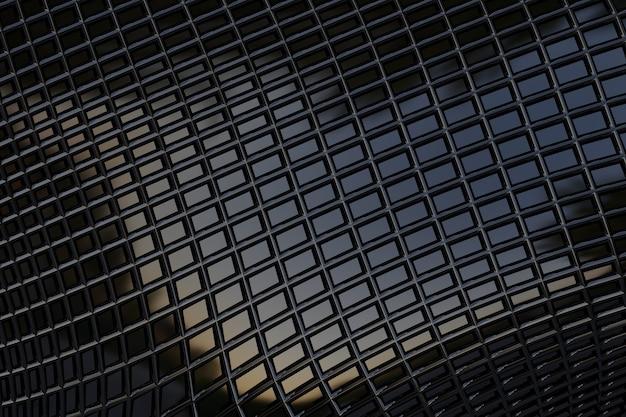 Metálico escuro com textura retangular