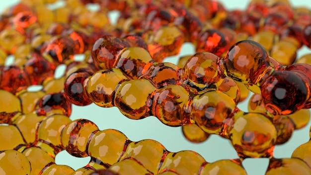 Metamorfoses volumétricas de vidro de cor amarela