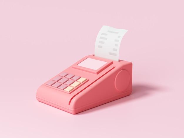 Métodos de pagamento pós-terminal, pagamento de compras online por cartão de crédito ilustração 3d render