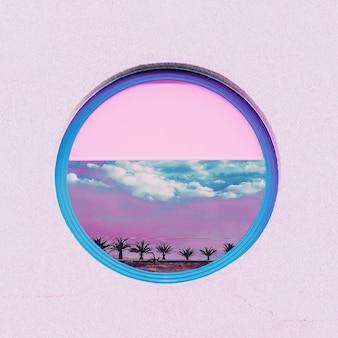 Meus sonhos de praia. arte de geometria tropical mínima