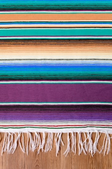 México cinco de mayo tradicional tapete mexicano serape ou fundo cobertor