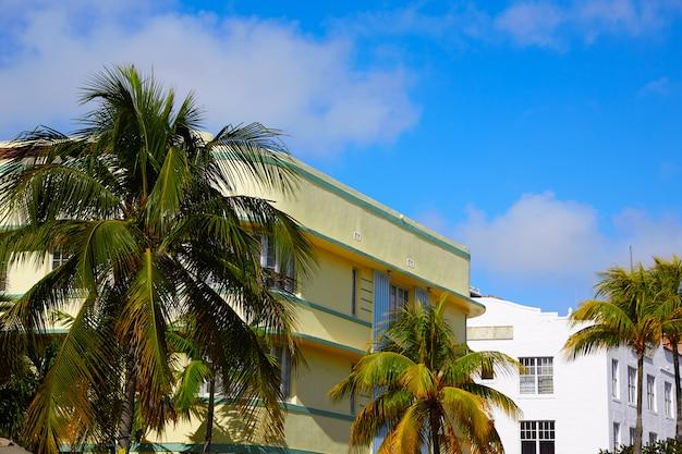 Miami beach ocean boulevard art deco florida