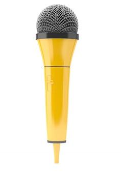 Microfone amarelo azul