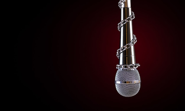 Microfone com corrente Foto Premium