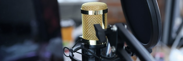 Microfone de estúdio para gravação de streaming de karaokê e blog