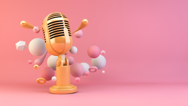 Microfone dourado