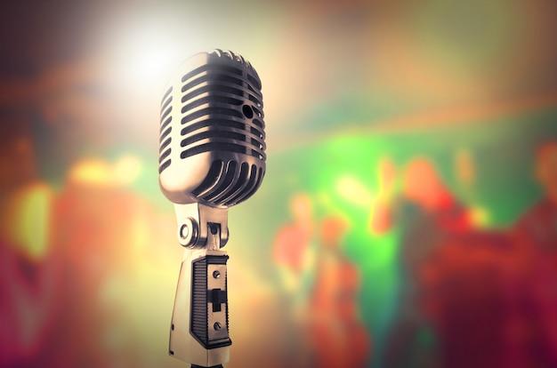 Microfone, em, um, estúdio