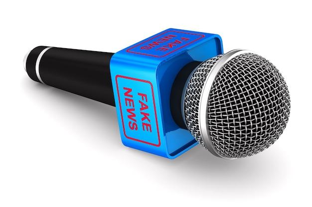 Microfone. isolado, renderização 3d