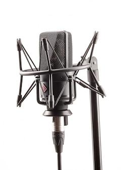 Microfone na estação de transmissão