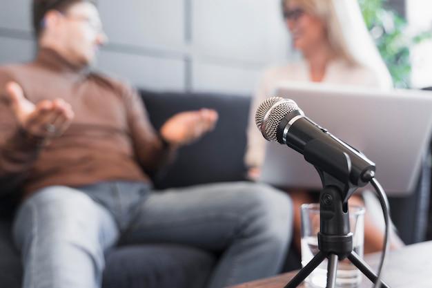 Microfone para entrevista