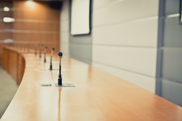 Microfone profissional para reuniões