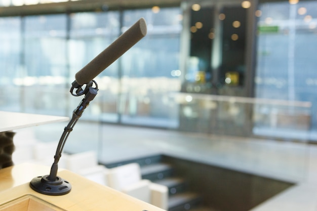 Microfone pronto para transmissão