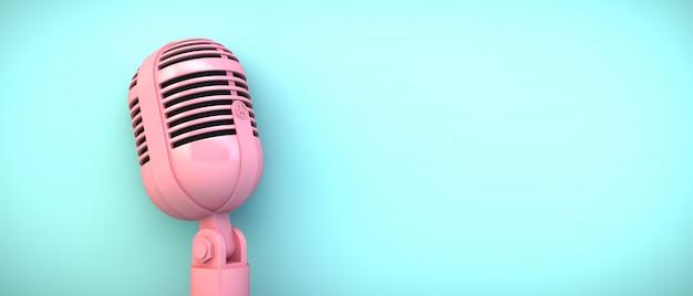 Microfone rosa