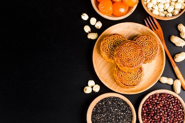 Mid autumn festival chinês tradicional pastelaria mooncake