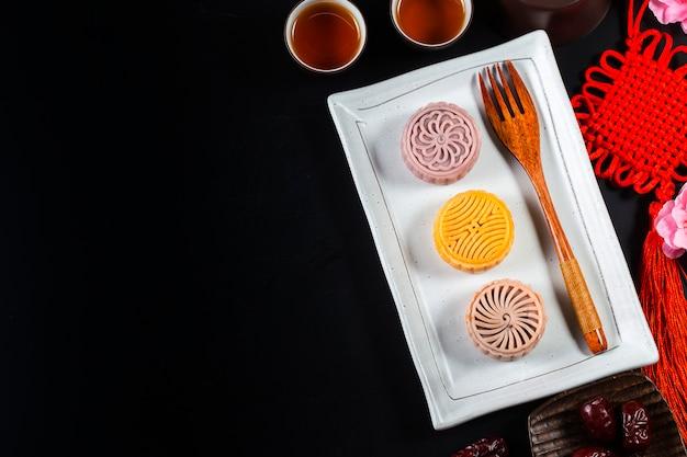 Mid autumn festival pastelaria tradicional chinesa mooncake