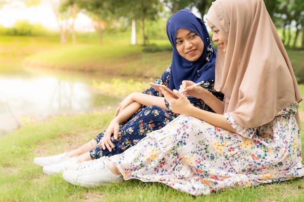 Mídia social de adolescente muçulmano