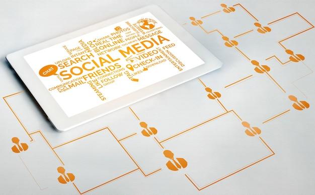 Mídia social e o conceito de rede de jovens. rede de conexão social online.